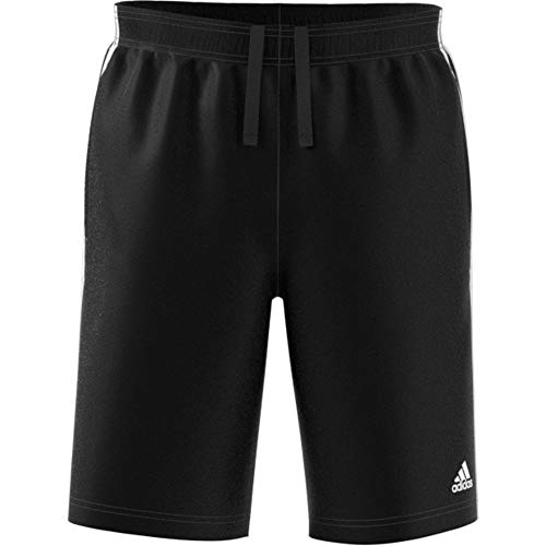 adidas ESS 3S Short Ft Shorts, Herren S schwarz (schwarz/weiß)