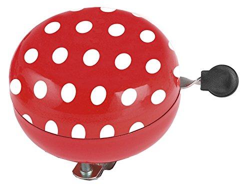 M-Wave Ladybird Fahrradglocke, Verschiedene Design Stahl, Rot, 80 mm