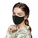 LIEIKIC 4 Stück Seide Mundschutz Waschbar Sommer Cool Atmungsaktive Staubdicht Baumwolle Stoff Mund und Nasenschutz für Damen Herren