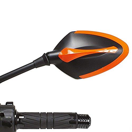 Motorrad Spiegel Protech XR-100 (Paar) schwarz-orange