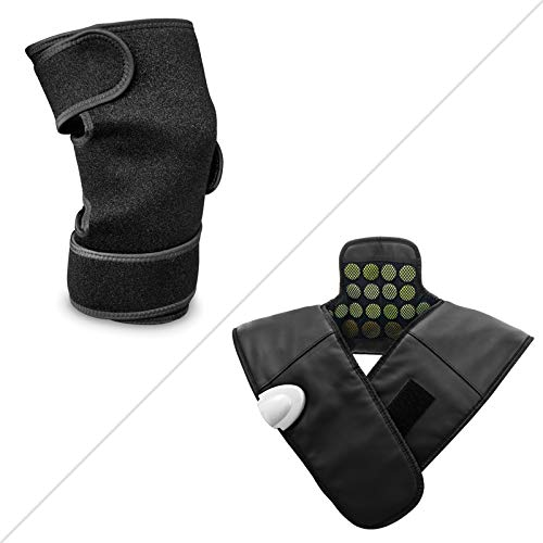 """UTK Far Infrared Heat Knee Pad (11.81"""" x 7.48"""") and Neck and Shoulder Infrared Heating Pad for Pain Relief"""