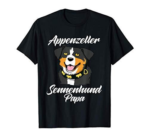 Herren Appenzeller Sennenhund Papa Geschenk Schweizer Hundebesitzer T-Shirt