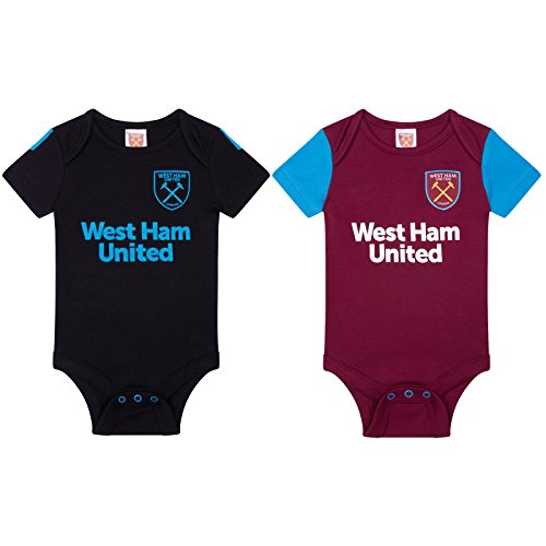 West Ham United FC - Pack de 2 bodis Oficiales para bebé