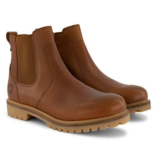 Travelin' Seljord Herren - Ankle Boots - Chelsea Boots - aus Leder - Cognac EU 44