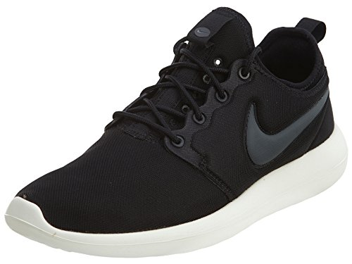 Nike Womens Roshe Two Black Textile Trainers 7 UK