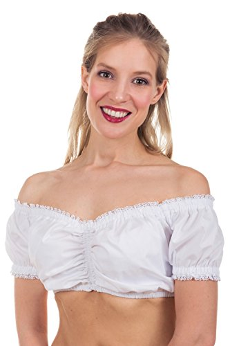 Edelnice Trachtenmode Verschiedene Dirndlblusen Modelle aus Spitze und Baumwolle Gr. 32-54, Irina, 36