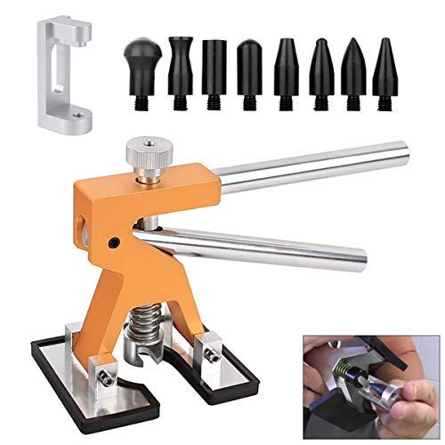 MMPP 10pcs Paintless Dent Repair Lifter Kits Edge Dent Puller Paintless Dent Repair Tools PDR Kits for Car Door Dings Repair Removal Tools
