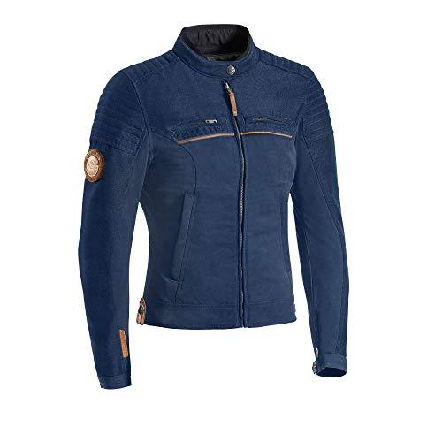 Ixon - Chaqueta de moto Breaker para mujer, color azul marino, talla M