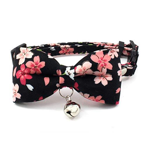 PETFAVORITES Breakaway Bowtie Cat Collar with Bell - Flower Kitten Bow Tie Kitty Puppy Clothes...