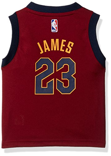 NBA Cleveland Cavaliers Toddler Outerstuff Replica Road Player Jersey, Lebron James, 2T