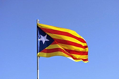 MI RINCON Bandera de CATALUÑA ESTELADA BLAVA 90 x 60cm - Bandera CATALANA INDEPENDENTISTA – Catalunya 90 x 60 cm