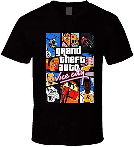 Grand Theft Auto Vice City Games T-Shirt Gr. L, Schwarz