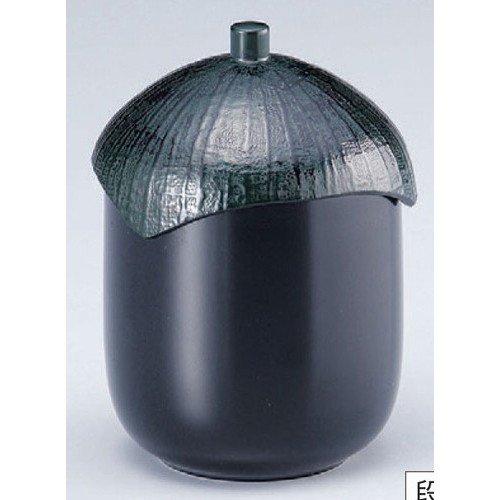 お椀 なす型小吸椀黒 洗浄機可 [7.2φ x 10cm] 熱硬化特殊樹脂 食洗機可 (7-180-2) 料亭 旅館 和食器 飲食店 業務用
