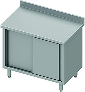 Armoire Basse Inox - 2 Portes Coulissantes - Gamme 800 - Stalgast - 1700x800 Coulissante