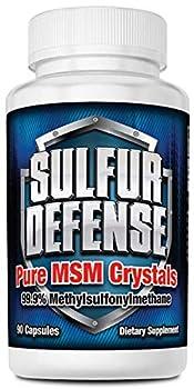 7 Lights Sulfur Defense MSM Crystals  99.9% Methylsulfonylmethane  Made in The USA 90 Caps