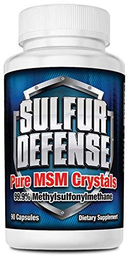 7 Lights Sulfur Defense, MSM Crystals (99.9% Methylsulfonylmethane), 90 Caps
