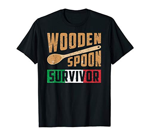 Wooden Spoon Survivor - Funny Italian Kitchen T-Shirt
