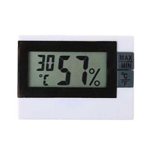 perfk Digitales Thermo-Hygrometer innen Raumluftüerwachtung mit LCD-Display