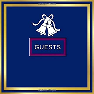 Guests: Bell Guest Book Navy Blue Wedding Guest Book Midnight Clour Wedding Album Keepsake Memory Book & Gift Log For Wedd...