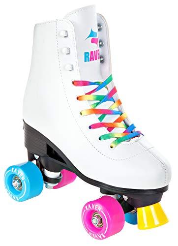 RAVEN Rollschuhe Roller Skates Iris White verstellbar (31-34(20cm-21,5cm))