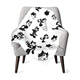 Soft&Warm Baby Felix The Cat Blankets Lightweight Flannel Throw Plush Bed Throw Blanket for Boys and Girls 30''×40''