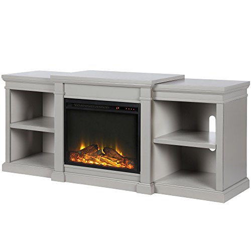 Ameriwood Home Manchester Fireplace TV Stand, Gray Gray