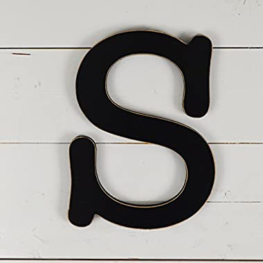 11.5  Typewriter Wall Decor Letter  S - black