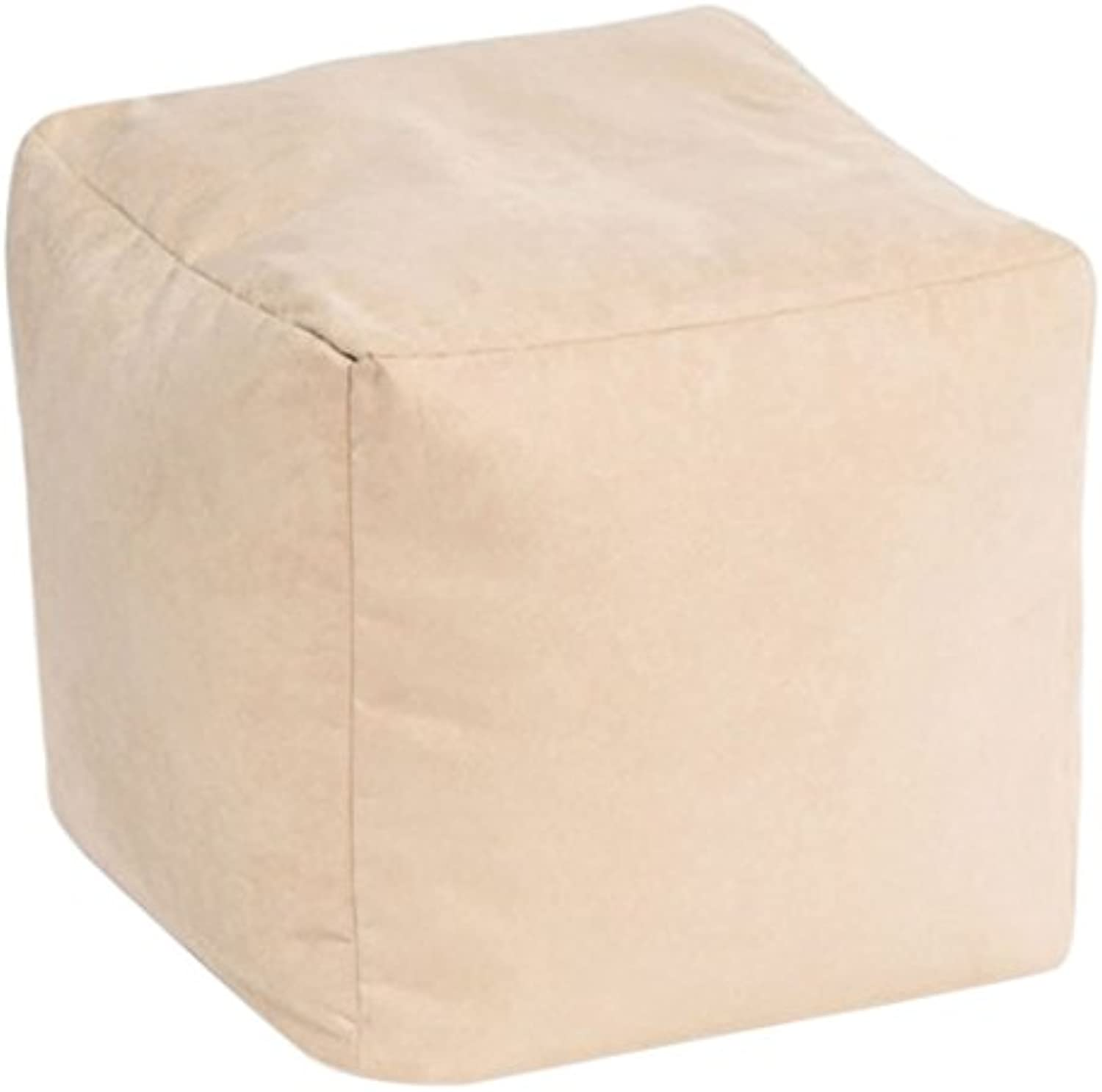 Beautiful Beanbags Cream Faux Suede Cube by Beautiful Beanbags