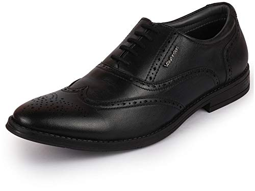 BATA Men's 834-6010-40 Black Leather Oxford Shoes (6 UK)