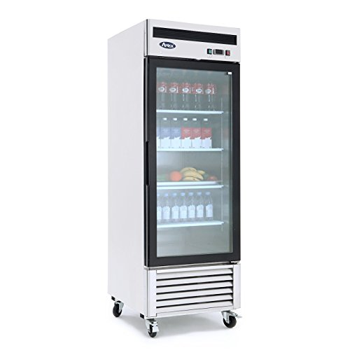 ATOSA MCF8701 Bottom Mount 1 Glass Door Freezer