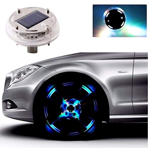 Laduup Auto 4 Modi LED Solar Energie Blinklicht Reifen Felgenlampe LED Ventilkappe Radbeleuchtung Licht Felgenlicht Tunin Auto Felgen Beleuchtung