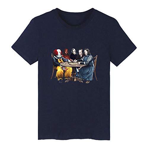 Camiseta Joker 2019 Disfraz de Halloween DC Impreso de Manga Corta Horror Novedad Tops para Hombres Mujeres
