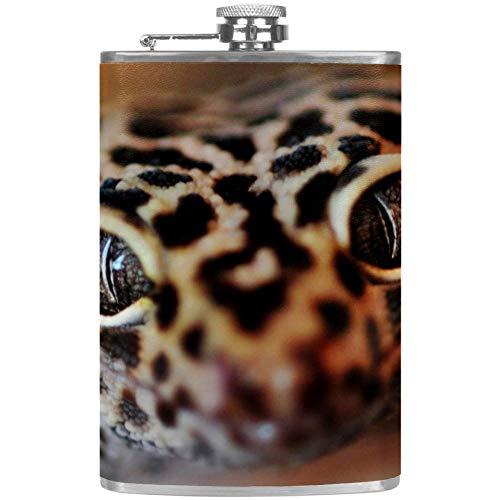 Bennigiry Herren-Flachmann Reptil Gecko Eidechse auslaufsicher Edelstahl Taschen-Flachmann für Likör