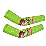 Cycling Armwarmers For Womem Men Arm Sleeves UV Protection Green Riding L
