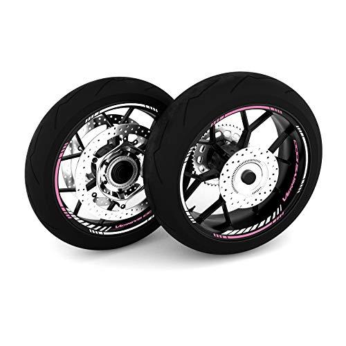 Motostick Graphics Adhesivo para rueda compatible con Kawasaki Versys 1000 'Strike 4' (rosa)