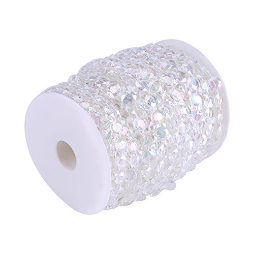 Zerodis 30m / 98ft acryl diamant kristallen parelsnoer gordijn deur bruiloft verjaardag party decoratie DIY 10mm helder/AB kleur