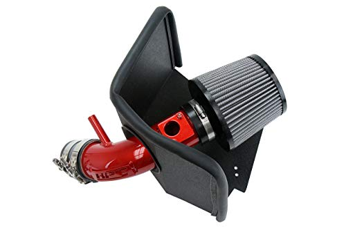 HPS Red Shortram Air Intake Kit Heat Shield Cool Ram 827-619R
