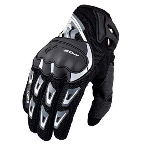 zhipeng Motocicleta Racing guante motocross gants moto guantes full finger ciclismo guantes pantalla táctil negro tamaño l hsvbkwm