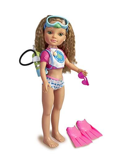 Nancy, un día salvando Tortugas, muñeca de Pelo Rizado con Traje de...