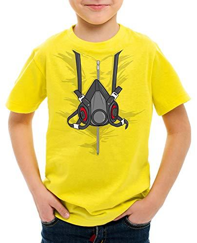 style3 Bad Meth Gasmaske T-Shirt für Kinder kostüm Crystal Breaking tv Serie, Größe:152