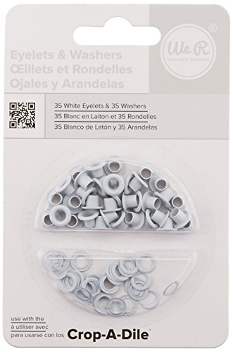 We R Memory Keepers 0633356422204 Eyelets & Washers Crop-A-Dile-Standard-White (70 Piece)