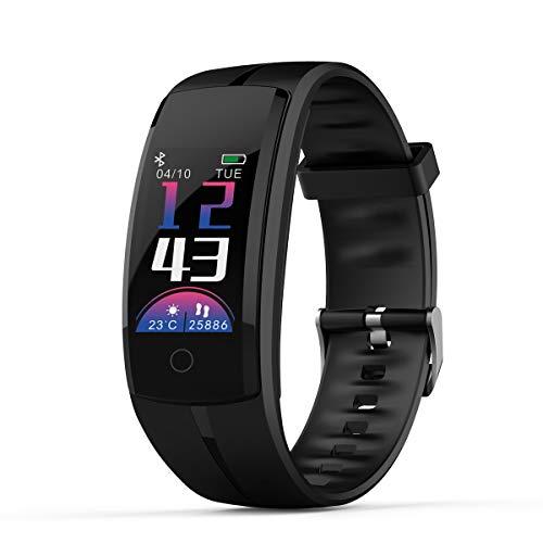 Smartwatch Orologio Fitness Tracker Cinturino da polso con Bracciale Promemoria di Notifica Orologio con Cardiofrequenzimetro Monitoraggio del Sonno lo Sport per Uomo Donnam Android iOS