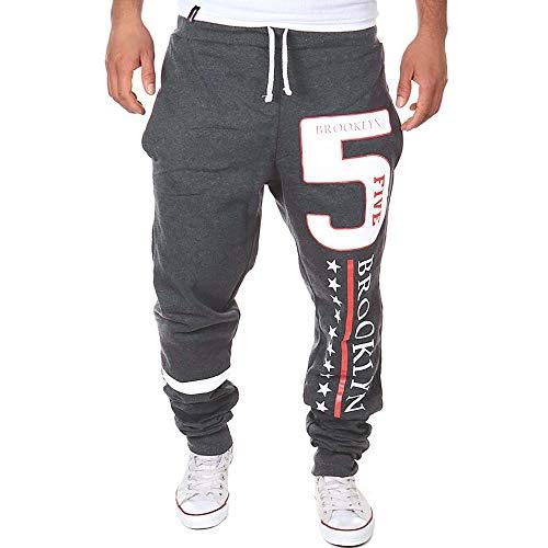 Alaso Hommes Pantalon de Sport, Jogging Occasionnels Homme Pantalons de Survêtement Activewear Pants Coton Slim Fit Pas Cher