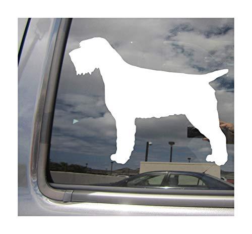 Lplpol - Adhesivo de vinilo para pared, diseño de perro Korthals d'arrêt à poil dur Korthal Pure Breed Cars Camiones con casco de moto, casco duro, auto automotriz, manualidades, portátil, para ventana, de 6 pulgadas