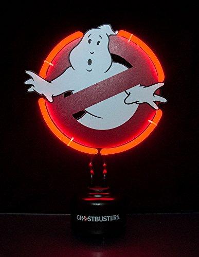 Ghostbusters fantasmas no pequeña luz de neón de