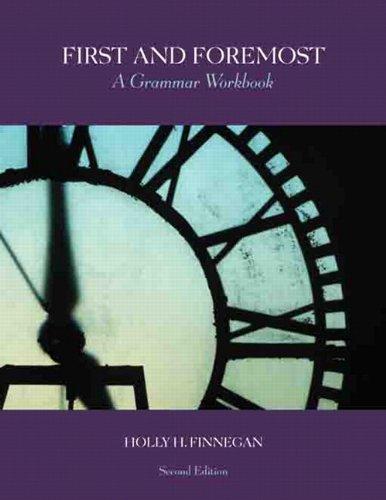 First and Foremost: A Grammar Workbook (2nd Edition)