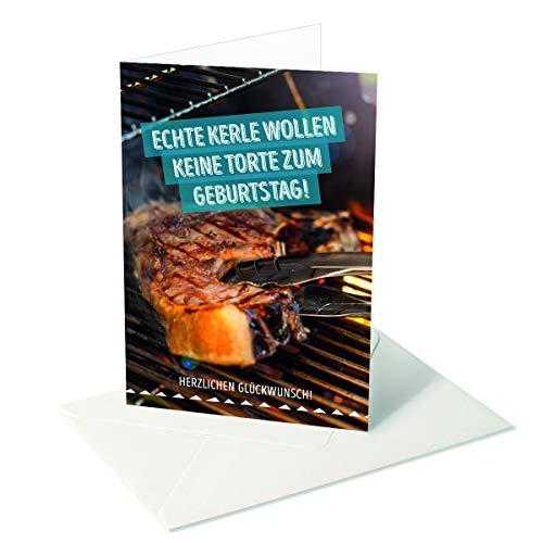Ik wens jezelf was/verjaardag heren echte kerle/steak - grill