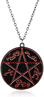 Anti-Possession Charm Necklace Winchester Tattoo Pendant Necklace Fandom Cosplay Necklace - (Metal Color: A0531)
