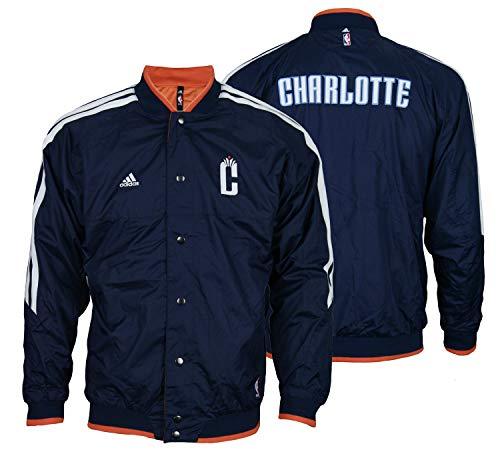Charlotte Bobcats NBA Big Boys Youth On Court - Chaqueta reversible, color azul marino y naranja - azul - 8 años