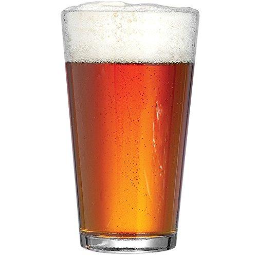Arcoroc - Bicchieri da birra Conique, 568 ml, set di 4 bicchieri da birra, bicchieri Hiball, bicchieri da bibita, in vetro temperato